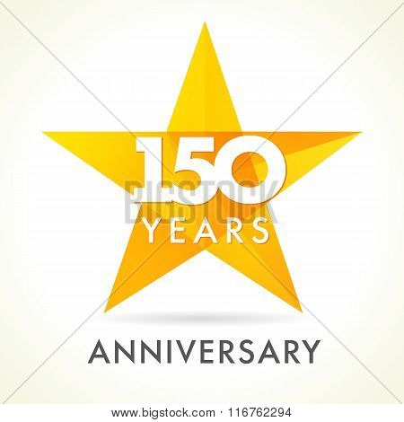 150 anniversary star logo