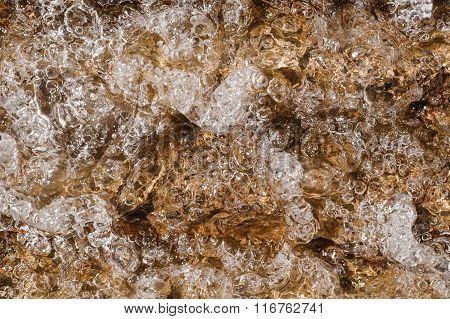 Air Bubbles In Clear Water For Backgrounds