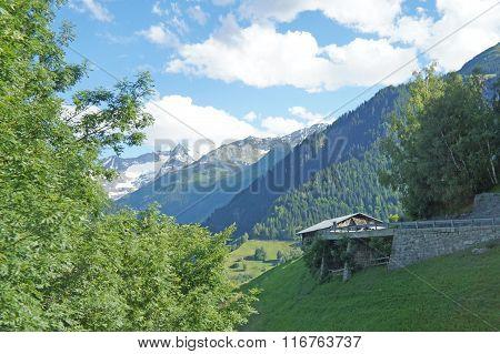 Mountain landscape in Switzerland
