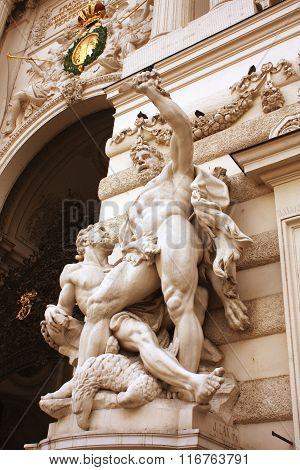 Hofburg - Imperial Palace Detail, Vienna, Austria
