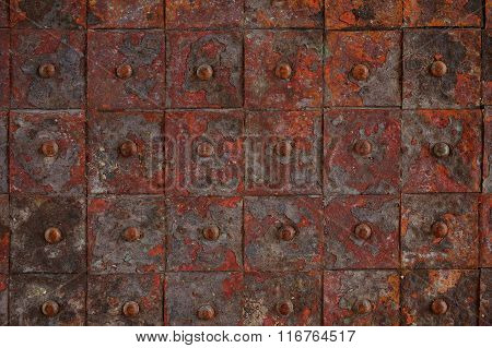 Old Rusty Metal Tile Background