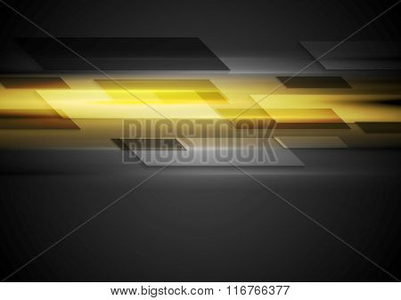 Tech dark background with yellow glowing light