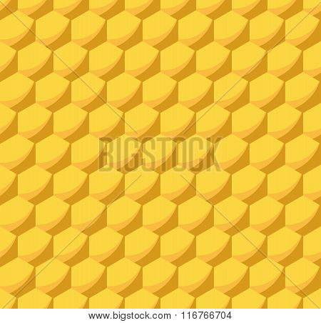 Honeycomb Beehive Seamless Pattern