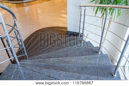 beautiful stone staircase at the Egypt hotel.