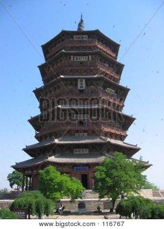 A Buddist Pagoda In China
