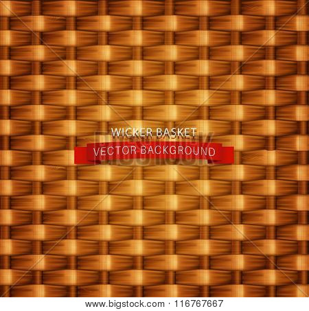 Vector texture. Wicker basket.