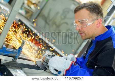 welder perfecting his work