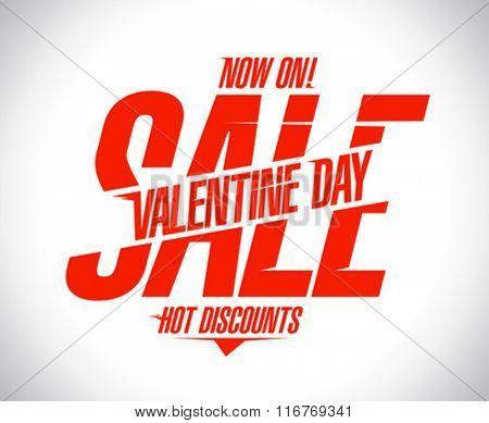 Valentine day sale text design.