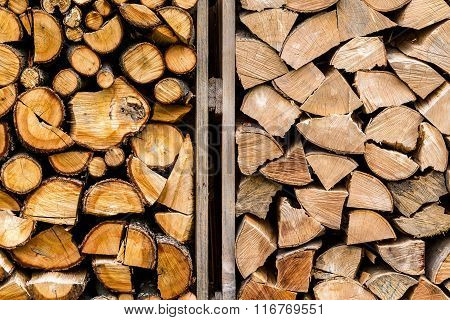Pile Of Stacked Firewood