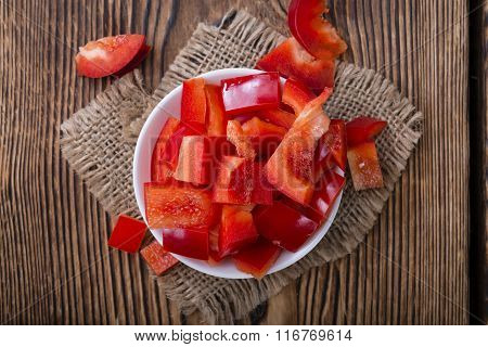 Portion Of Red Peppers (sliced)