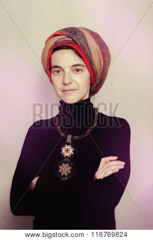 Portrait Of Proud Ethnic Woman