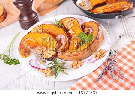 grilled pumpkin sliced