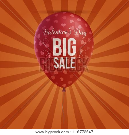 Valentines Day big Sale holiday red Balloon