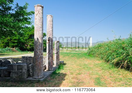 Columns in Heraion