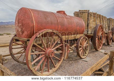 Water Tank Car At Harmony Borax In Death Valley