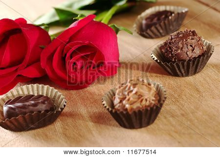 Red Rose with Truffles
