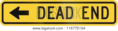 United States Mutcd Warning Road Sign - Dead End