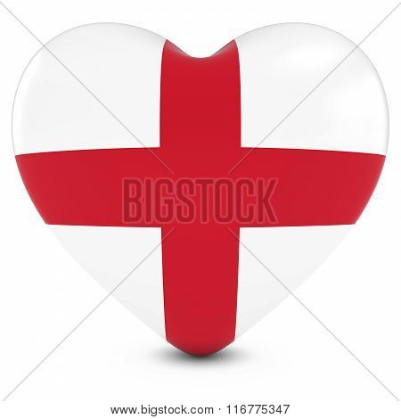 Love England Concept Image - Heart Textured With English Flag