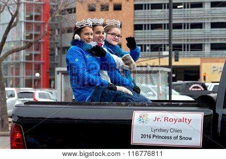 Junior Royalty At Winter Carnival