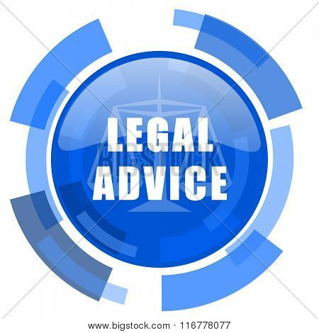 legal advice blue glossy circle modern web icon