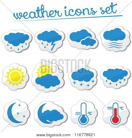 Weather Icon Set (stickers)