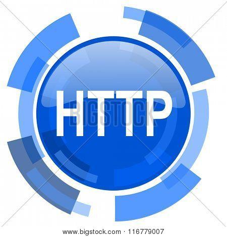 http blue glossy circle modern web icon