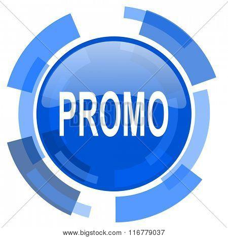 promo blue glossy circle modern web icon