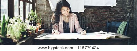 Businesswoman Beautiful Occupation Confident Concept