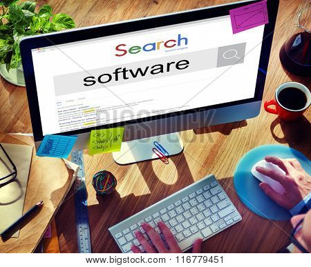 Software System Technology Programs Computer Concept