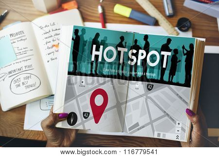 Hotspot Technology Network Internet Connection Concept