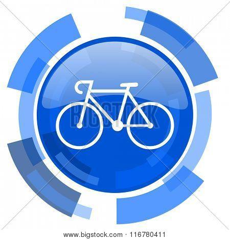 bicycle blue glossy circle modern web icon
