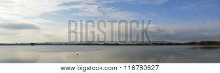Arlington Reservoir east Sussex on a Still day