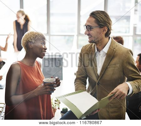 Business People Busy Working Talking Concept