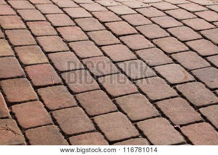 Concrete block pavement. Background texture.