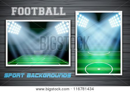 Set Backgrounds of football stadium