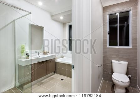 Modern Bathroom With The Toilet