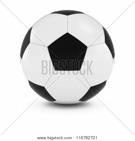 Football / Soccer Ball Isolated On White With Shadows