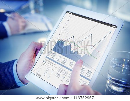 Business Sales Increase Revenue Shares Concept