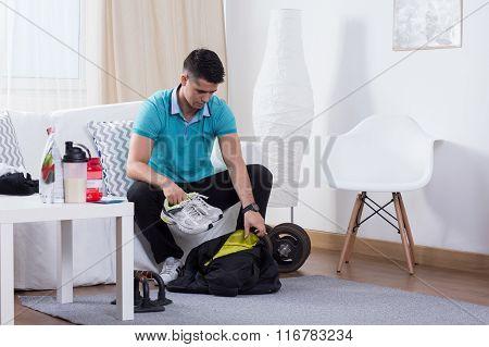 Man Leading Healthy Lifestyle