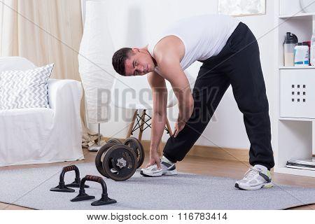 Active Man Do Exercise
