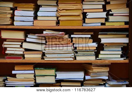 Books in shelves