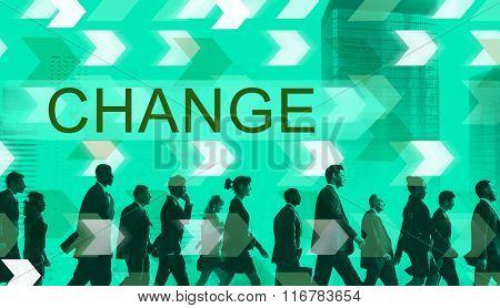 Change Innovation Improvement Development Concept