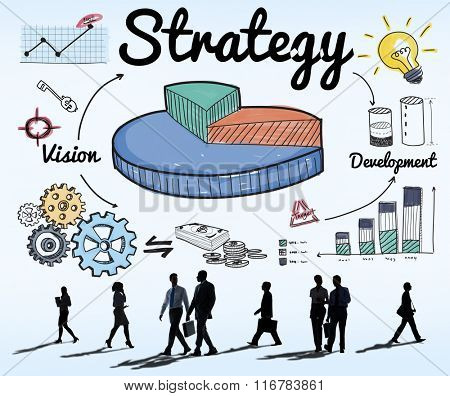 Strategy Business Chart Vision Development Concept