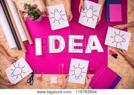 Idea White Letters