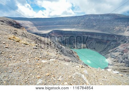 The Crater Lake Of The Santa Ana Volcano As Well As The Small Calderas Surrounding It, El Salvador
