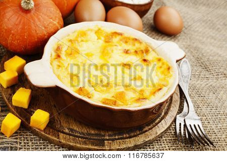 Casserole With Cottage Cheese And Pumpkin
