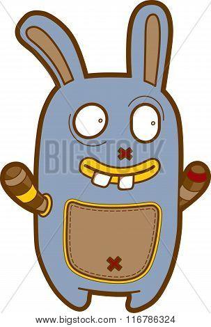 Funny Cartoon Creature - Emotional Monster Doodle