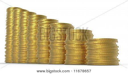 Progress Or Drop: Golden Coins Stacks