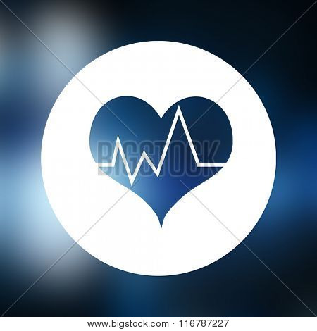 Blue heartbeat against medical icons in hexagons interface menu