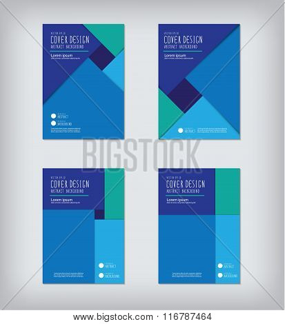 Business Report Square Cover Design Flat Vector.